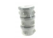 Lot de 3 Boîtes de Dérivation Etanche IP54 - 4 Entrées - 80 x 45 mm - Ref 718719 - DEBFLEX