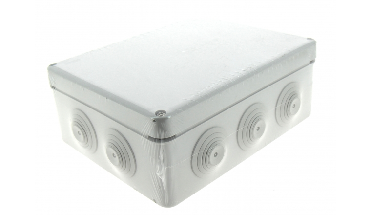 Boîte de Dérivation Etanche IP55 - 10 Entrées - 210 x 170 x 70 mm - Ref 718070 - DEBFLEX