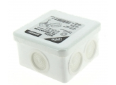 Boîte de Dérivation Etanche IP66 - 8 Entrées - 90 x 90 x 52 mm - Ref 718240 - DEBFLEX