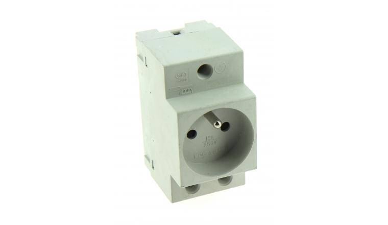 Prise 2P + T modulaire pour Tableau Electrique 16A - 250V - 84 x 66 x 44 mm - Ref 707600 - DEBFLEX