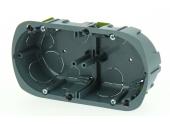 Boîte d'encastrement Double Multimatériaux - 67 x 40 mm - Entraxe 71 mm - Ref 718751 - DEBFLEX