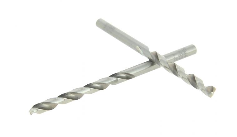 Lot de 2 Forets HSS Acier Ø 4.8 mm - Longueur 85 mm - Ref 302XE000480 - Riss