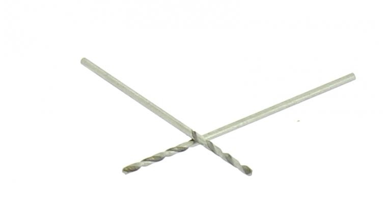 Lot de 2 Forets HSS Acier Ø 1 mm - Longueur 35 mm - Ref 302XE000100 - Riss