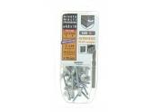Lot de 25 Rivets Aveugles Aluminium / Acier Multi Epaisseurs Ø 4.8 x 10 mm - Ref 864352 - Smartool