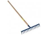 Rateau Forgé 14 dents - 42 cm - Manche en Bois - Ref 516114 - Outils Perrin