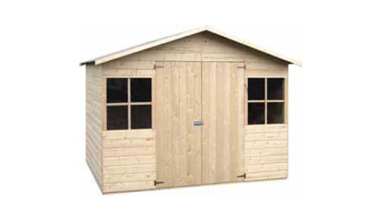 D cor et jardin abri de jardin en bois lopun for Acheter un abri de jardin