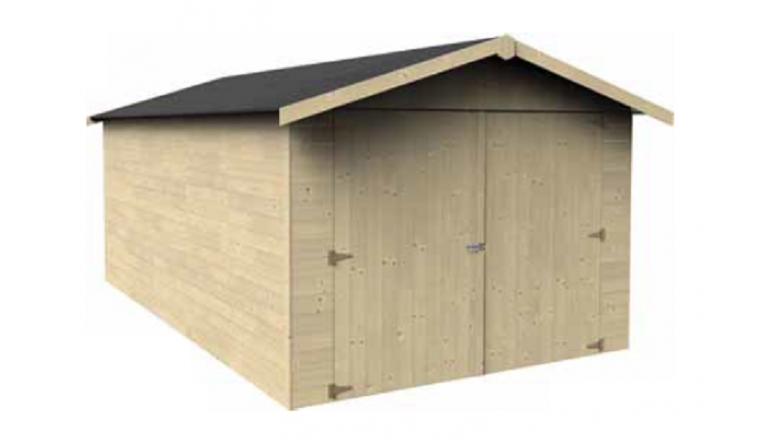 Garage en Bois GAROVE Décor et Jardin 12.36 m² Ref 40000S009