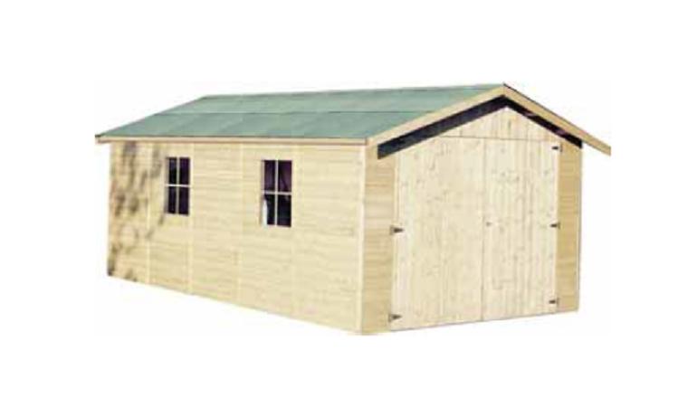 Garage en Bois GAPADAN Décor et Jardin 15.27 m² Ref 41011S000