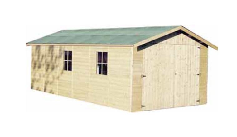 Garage en Bois GAPALE Décor et Jardin 18.27 m² Ref 41012S000