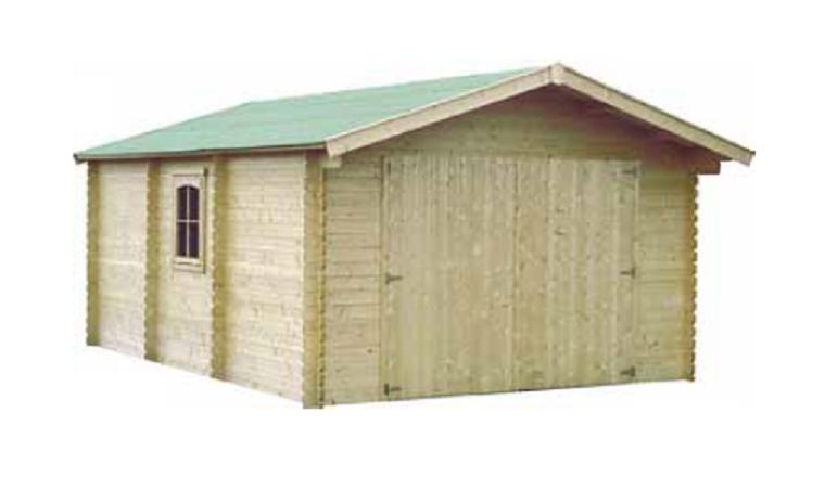 Garage en Bois GAMAFOR Décor et Jardin 18.90 m² Ref 61801S000