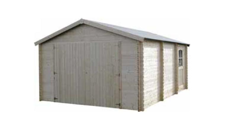 Garage en Bois GARODEAL Décor et Jardin 17.78 m² Ref 71702S017