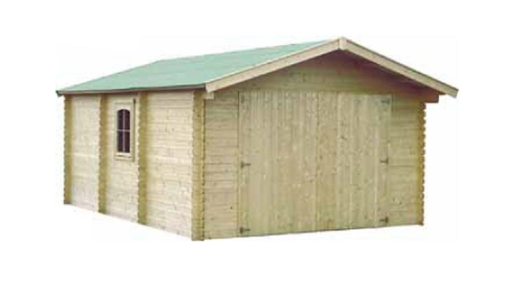 Garage en Bois GAMAGRAN Décor et Jardin 18.90 m² Ref 81801S000