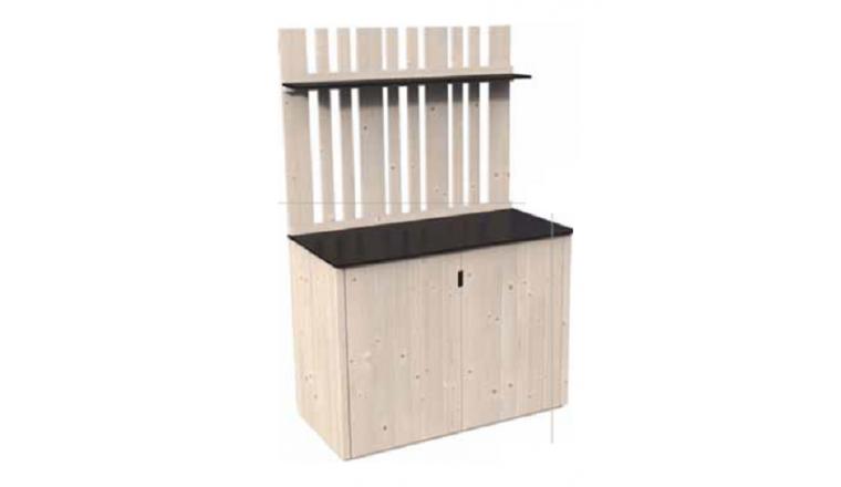 armoire haute en bois vertigo d cor et jardin m ref. Black Bedroom Furniture Sets. Home Design Ideas