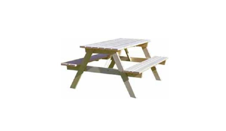 table foresti re en bois 2 bancs d cor et jardin ref 11135 000. Black Bedroom Furniture Sets. Home Design Ideas