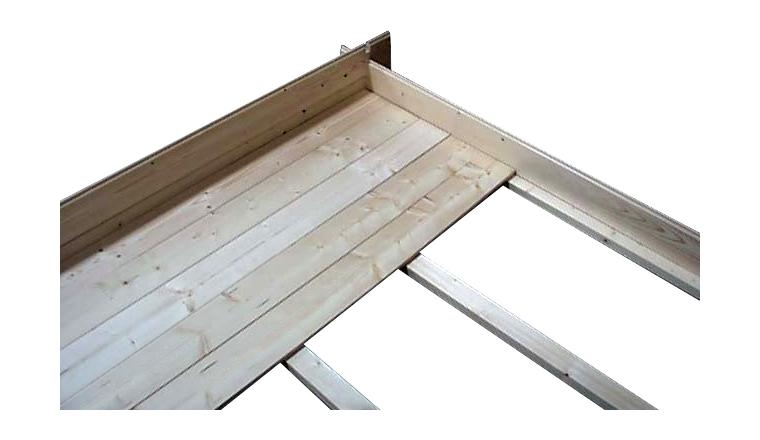 Plancher en bois autoclave d cor et jardin for Abri de jardin autoclave avec plancher