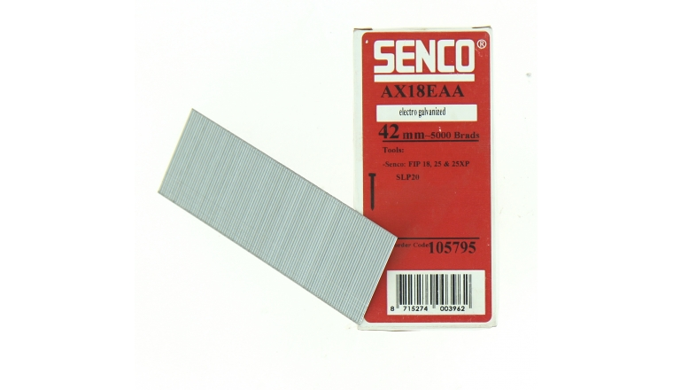 Boîte de 5000 Pointes AX18EAA 42 mm en Bande pour Machine Pneumatique - SENCO