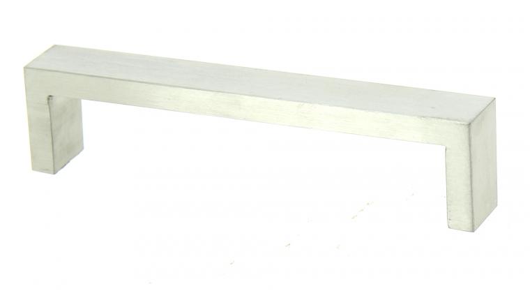 Poignée Rectangulaire en Inox Brossé Satiné - Entraxe 128 mm - Design-Mat