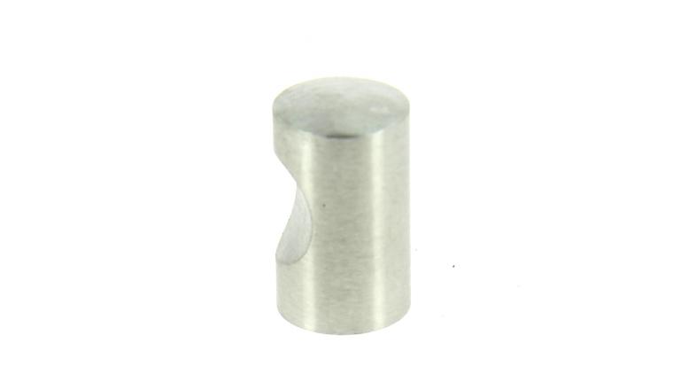 Bouton à Encoche en Inox Brossé - Ø 15 mm - Longueur 22 mm - Design-Mat