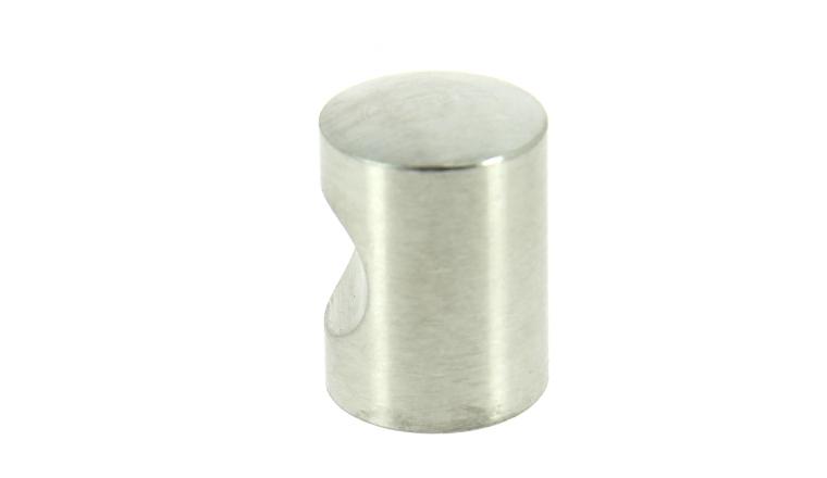 Bouton à Encoche en Inox Brossé - Ø 20 mm - Longueur 25 mm - Design-Mat