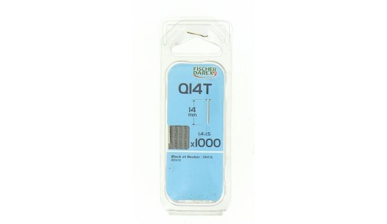 Boîte de 1000 Pointes Q14T - 14 x 1.5 mm - En Bande pour Machine Pneumatique - Fischer Darex