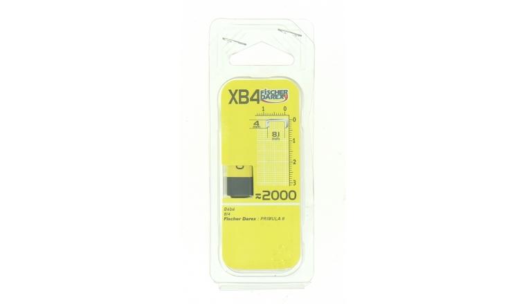 Boîte de 2000 Agrafes XB4 - 4 x 8.1 mm - Fischer Darex