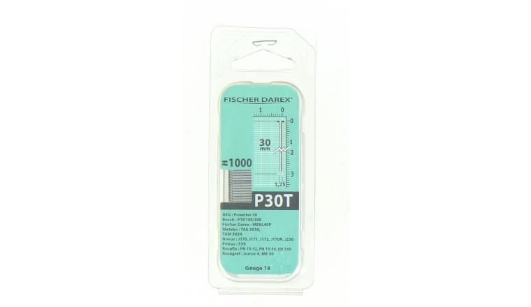 Boîte de 1000 Pointes P30T - 30 x 1.25 mm - En bande pour Machine Pneumatique - Fischer Darex