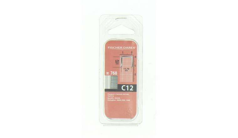 Boîte de 760 Agrafes C12 - 11.70 x 12 mm - Fischer Darex