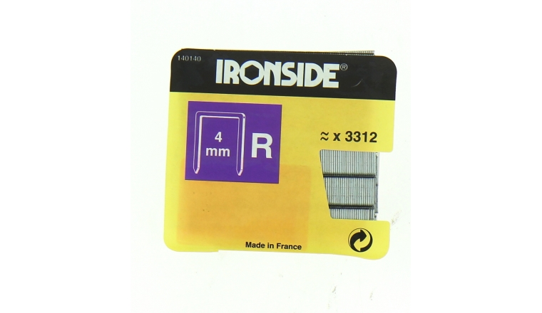 Boîte de 3310 Agrafes R4 - 4 x 11 mm - Ironside