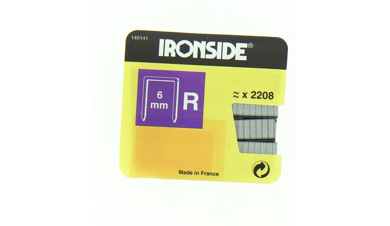 Boîte de 2200 Agrafes R6 - 6 x 10 mm - Ironside