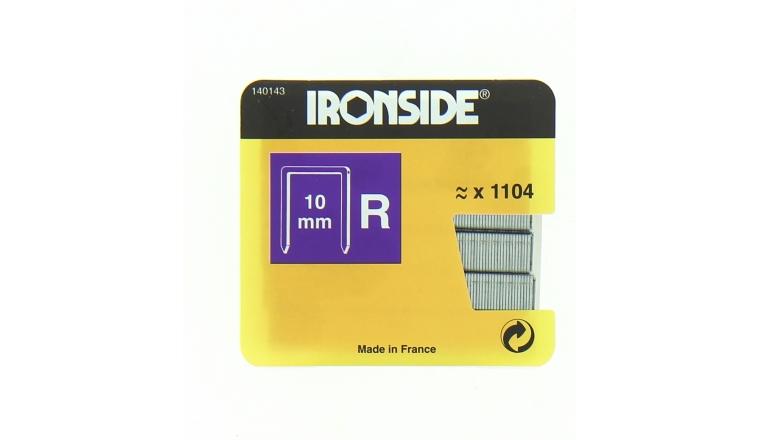 Boîte de 1100 Agrafes R10 - 10 x 10 mm - Ironside