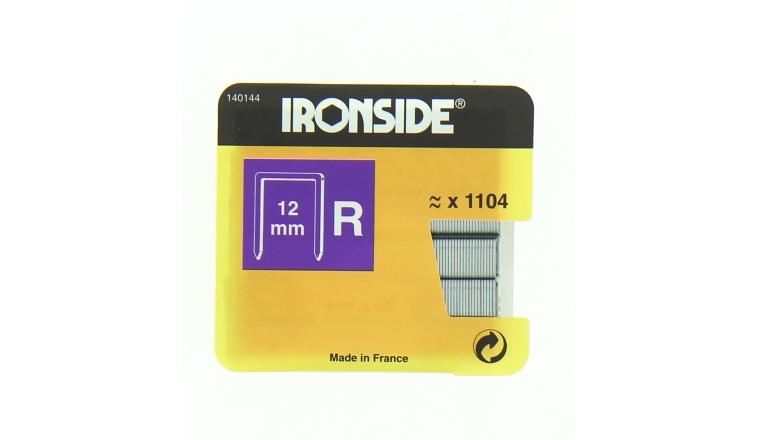 Boîte de 1100 Agrafes R12 - 12 x 11 mm - Ironside