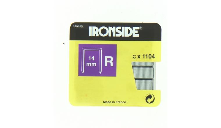 Boîte de 1100 Agrafes R14 - 14 x 11 mm - Ironside