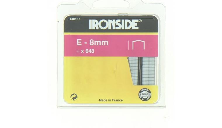 Boîte de 640 Agrafes E8 - 8 x 11 mm - Ironside