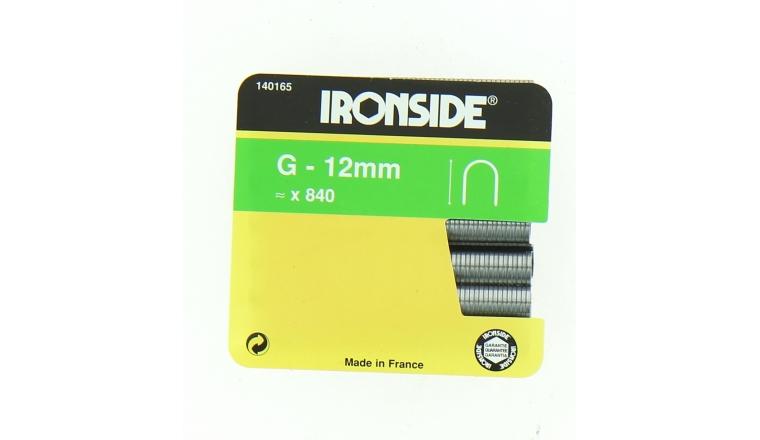 Boîte de 840 Agrafes G12 - Ø 9 x 12 mm - Ironside