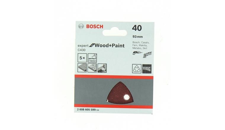 Lot de 6 patins triangulaires velcro pour ponceuse - Bosch
