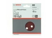 Lot de 5/6 disques velcro 8 trous diamètre 125 mm - Bosch