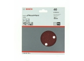 Lot de 5/6 disques velcro 6 trous diamètre 150 mm - Bosch