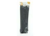Lot de 50 Colliers Rilsan Noir - Largeur 9 mm - Longueur 350 mm - Debflex