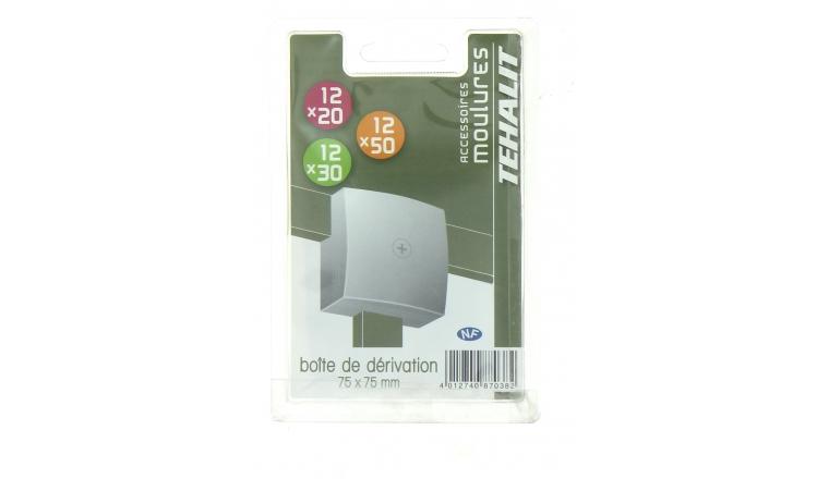 Boîte de Dérivation 75 x 75 cm - Moulure PVC Hauteur 12 mm - Ref GPM70759B - Tehalit