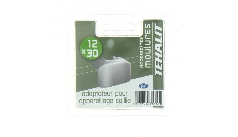 Adaptateur pour Appareillage en Saillie - Moulure PVC 12 x 30 mm - Ref GPM12349B - Tehalit