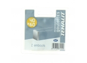 Lot de 2 Embouts de Finition - Goulotte PVC 40 x 60 mm - Ref GPV400606B - Tehalit