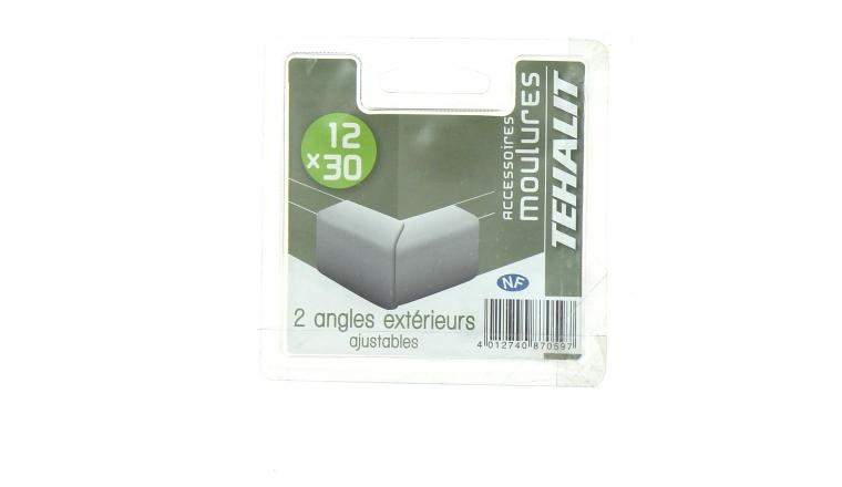 Lot de 2 Angles Extérieurs Ajustables - Moulure PVC 12 x 30 - Ref GPM12303B - Tehalit