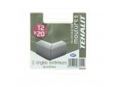 Lot de 2 Angles Extérieurs Ajustables - Moulure PVC 12 x 20 mm - Ref GPM12203B - Tehalit