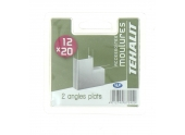 Lot de 2 Angles Plats - Moulures PVC 12 x 20 mm - Ref GPM12205B - Tehalit