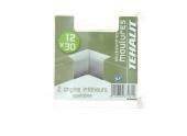 Lot de 2 Angles Intérieurs Ajustables - Moulure PVC 12 x 30 mm - Ref GPM12304B - Tehalit