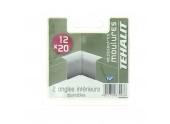 Lot de 2 Angles Intérieurs Ajustables - Moulure PVC 12 x 20 mm - Ref GPM12204B - Tehalit