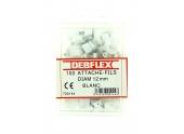 Boîte de 100 Attaches Fils - Ø  12 mm - Gris ou Blanc - Debflex