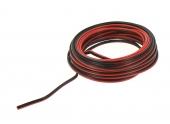Cable HiFi 2 x 0.75 mm² Rouge et Noir - Bobine de 10 m - Ref 213320 - Debflex
