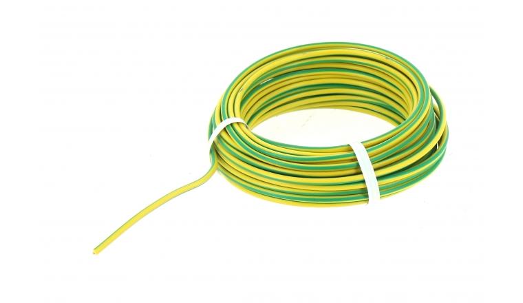 Fil Electrique H07V-U Jaune et Vert 1.5 mm² - Bobine de 10 m - Ref 8324486B - Miguelez