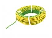 Fil Electrique H07V-U Jaune et Vert 2.5 mm² - Bobine de 25 m - Ref 8324586D - Miguelez